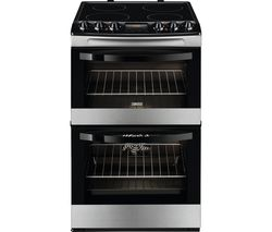 ZANUSSI ZCV48300XA 55 cm Electric Ceramic Cooker - Stainless Steel & Black