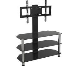 AVF SDCL900 900 mm TV Stand with Bracket - Black & Chrome
