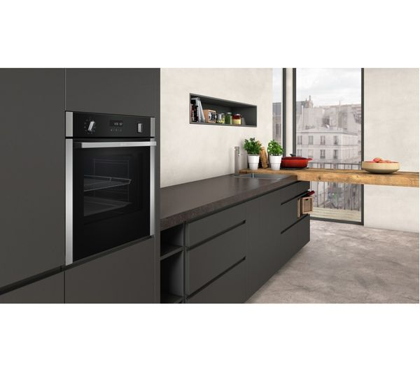 buy neff slide and hide b4acm5hn0b electric oven stainless steel free delivery currys. Black Bedroom Furniture Sets. Home Design Ideas