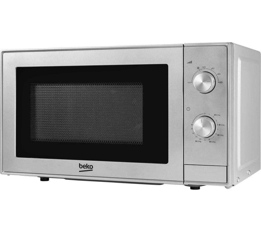 BEKO MOC20100S Compact Solo Microwave - Silver, Silver