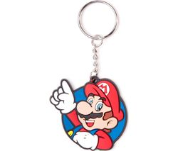 NINTENDO Mario Rubber Keychain - Red & Blue