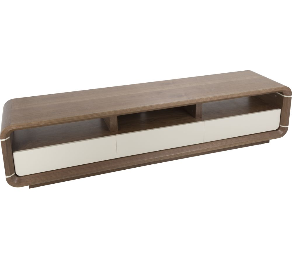 AVF Renwick FS2000RENW 2000 mm TV Stand - Walnut & White