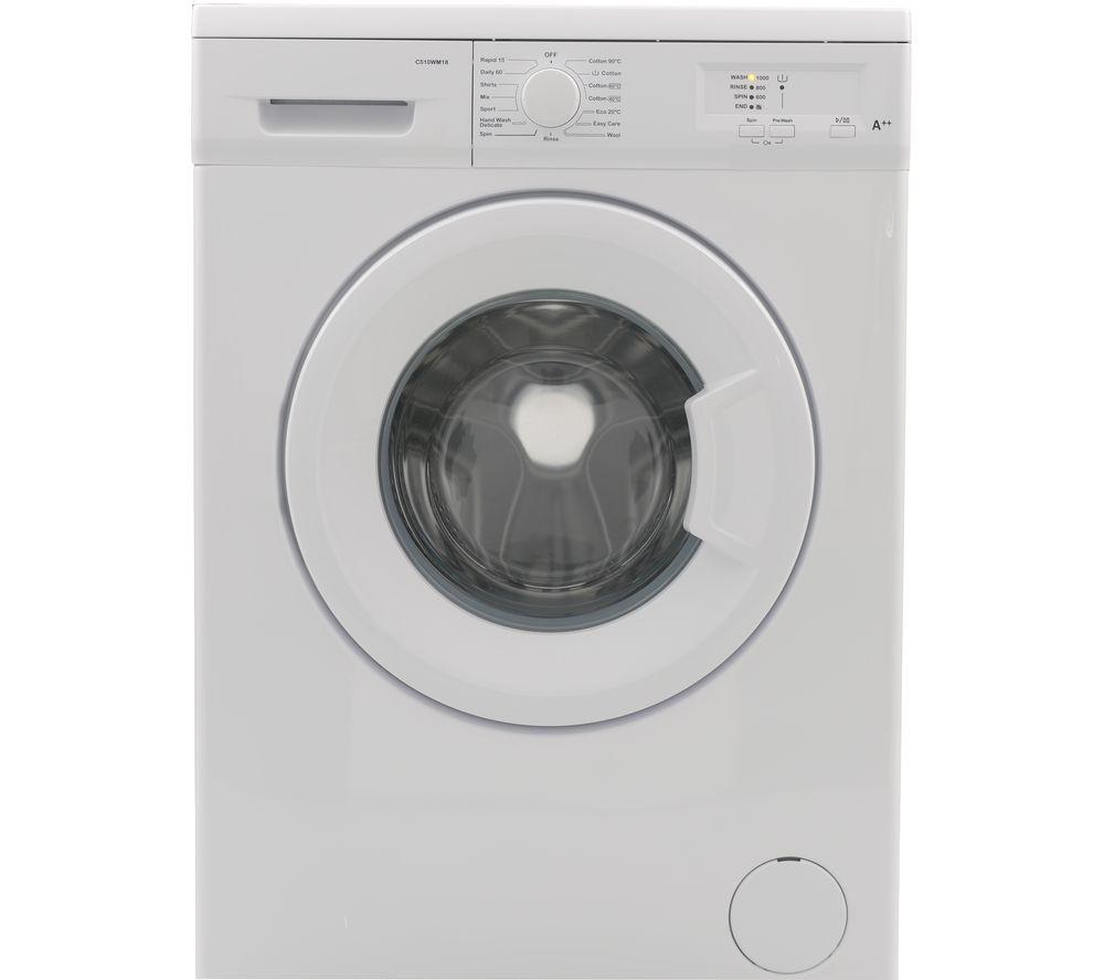 ESSENTIALS C510WM18 5 kg 1000 Spin Washing Machine – White, White
