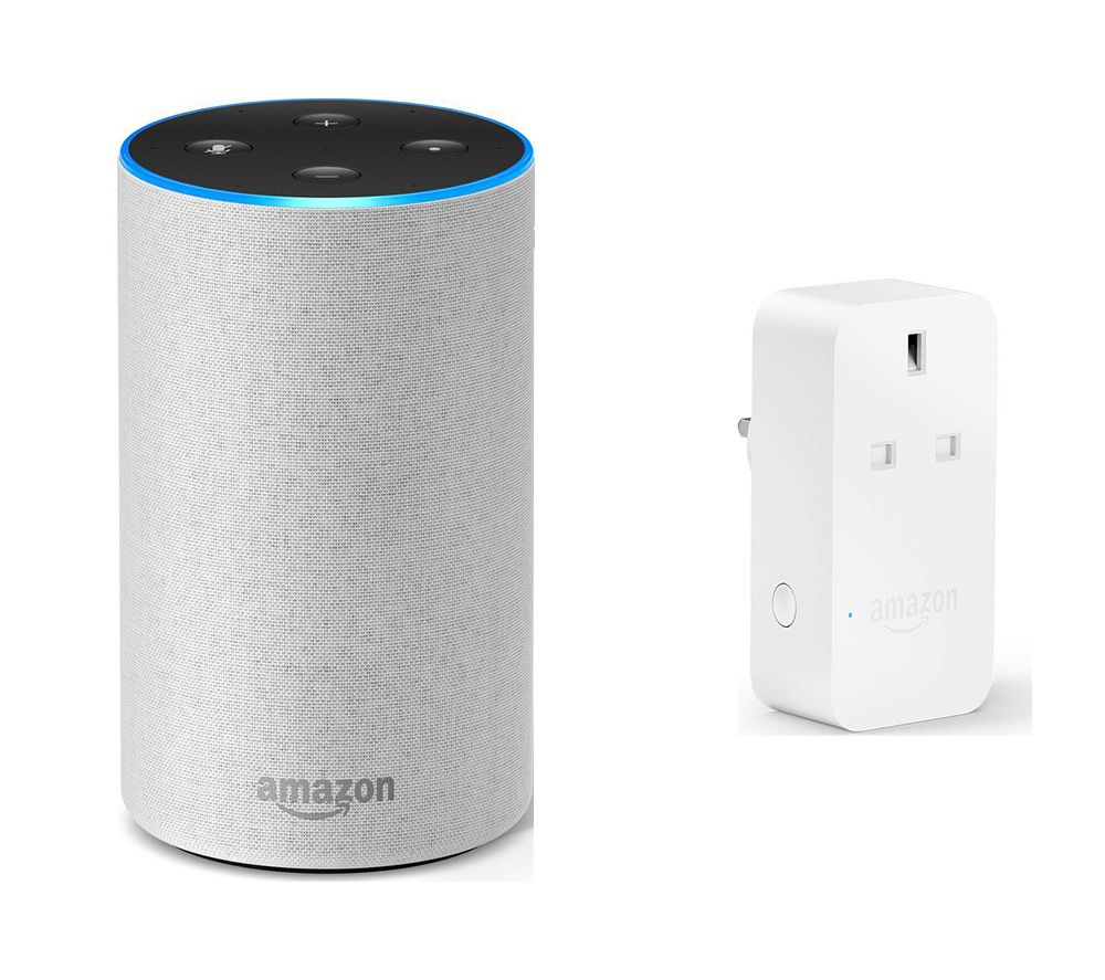 Image of AMAZON Echo & Smart Plug Bundle - Sandstone Fabric
