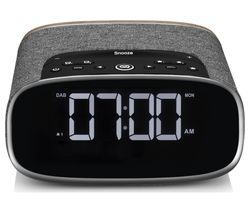 Lark DAB+/FM Bluetooth Clock Radio - Walnut