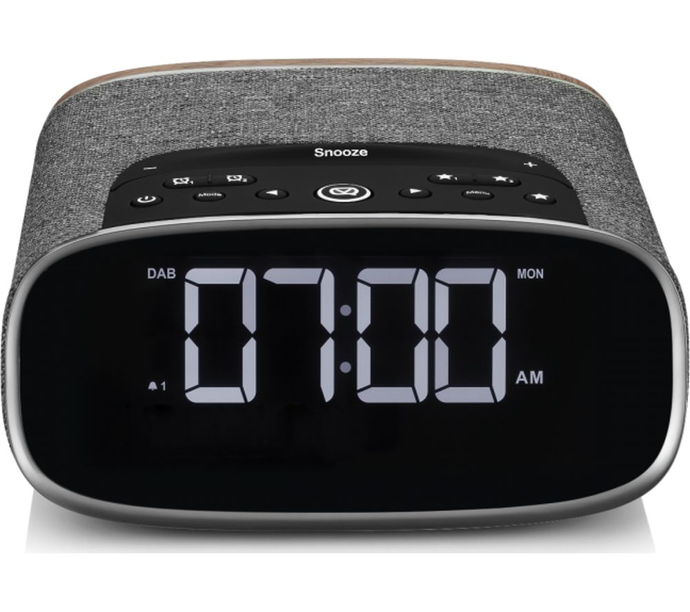 Image of VQ Lark DAB+/FM Bluetooth Clock Radio - Walnut