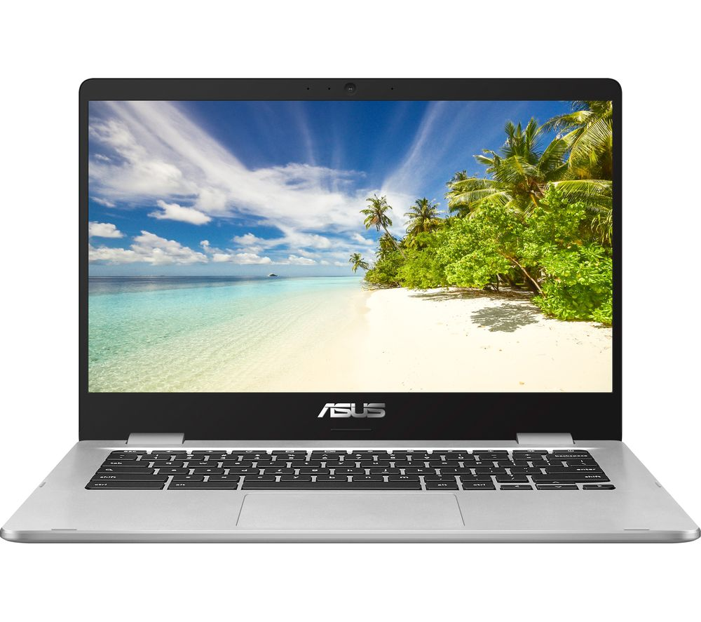 "Image of ASUS C423NA Touch 14"" Intel® Celeron Chromebook - 32 GB eMMC, Silver, Silver"