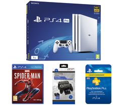 SONY PlayStation 4 Pro, Marvel's Spider-Man, Twin Docking Station & PlayStation Plus Subscription Bundle