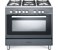 KENWOOD CK306SL 90 cm Dual Fuel Range Cooker - Slate Grey & Chrome