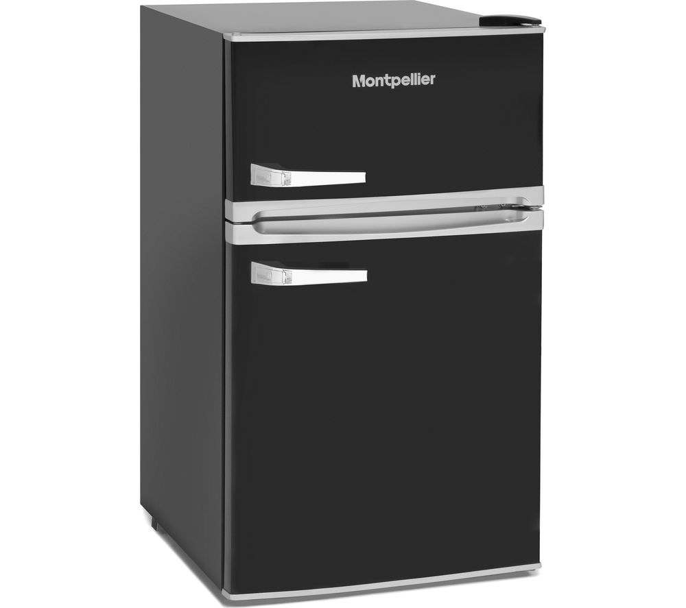 Retro MAB2031K Undercounter Fridge Freezer - Black, Black