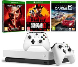 MICROSOFT Xbox One X, Red Dead Redemption 2, Tekken 7, Project Cars 2 & Wireless Controller Bundle