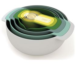 JOSEPH JOSEPH Nest 9 Plus Opal Mixing Bowl & Measuring Spoon Set