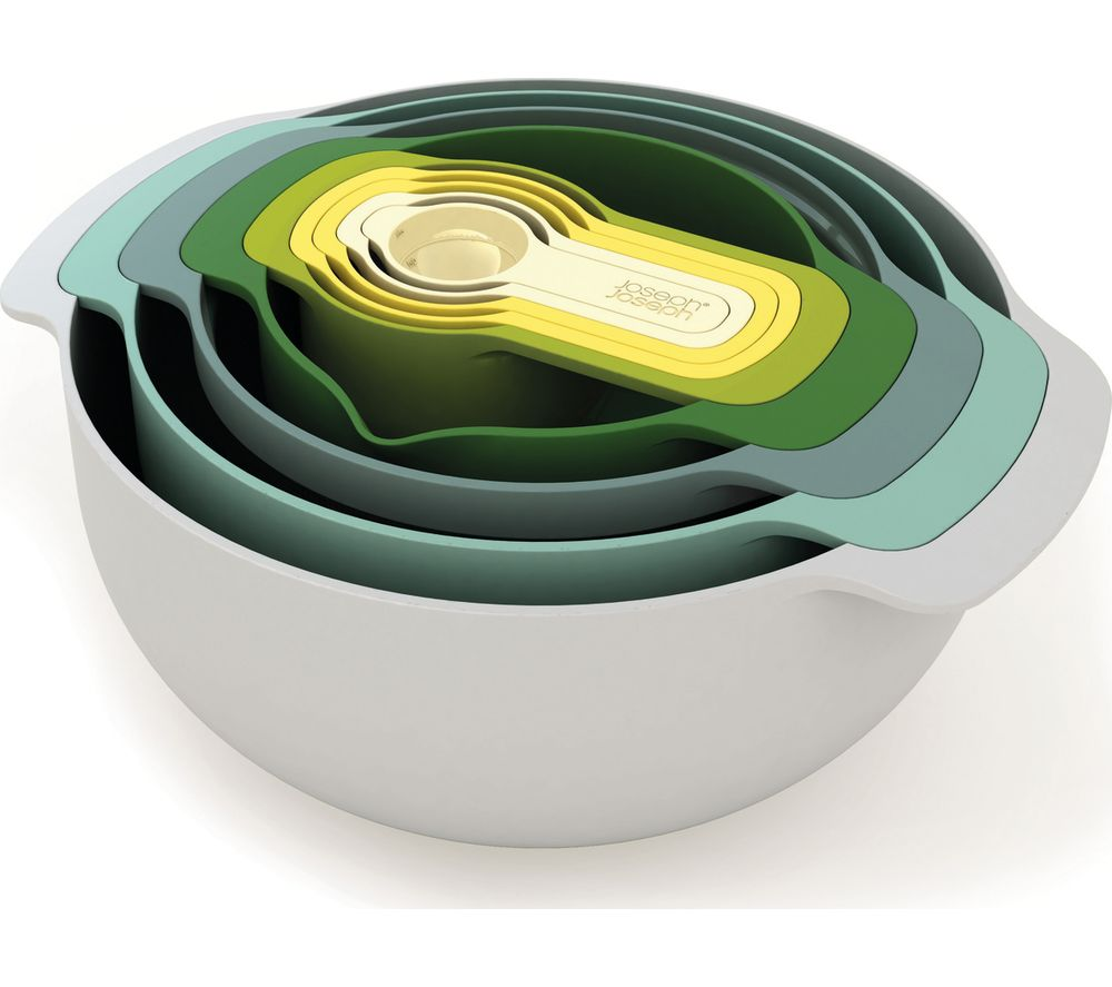 JOSEPH JOSEPH Nest 9 Plus Opal Mixing Bowl & Measuring Spoon Set