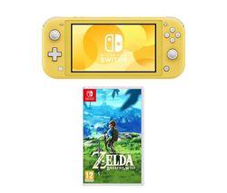 Switch Lite & The Legend of Zelda: Breath of the Wild Bundle - Yellow