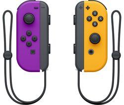 Switch Joy-Con Wireless Controllers - Purple & Orange