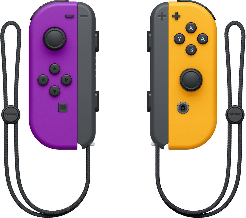 NINTENDO Switch Joy-Con Wireless Controllers - Purple & Orange, Purple