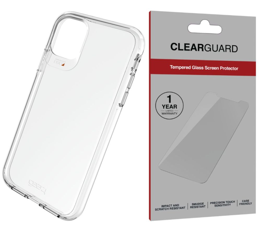 Buy Gear4 Crystal Palace Iphone 11 Pro Max Clear Case Invisibleshield Clearguard Pet Screen Protector Bundle Free Delivery Currys