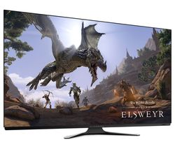 "AW5520QF 4K Ultra HD 55"" OLED Gaming Monitor - Lunar White"