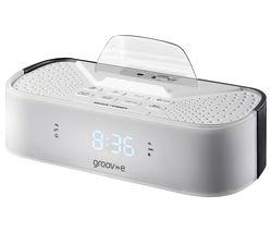 GROOV-E Time Curve GV-SP406-WE FM Clock Radio - White