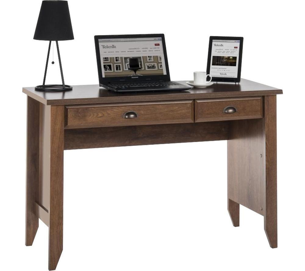 TEKNIK 5410416 Laptop Desk - Oiled Oak, Silver