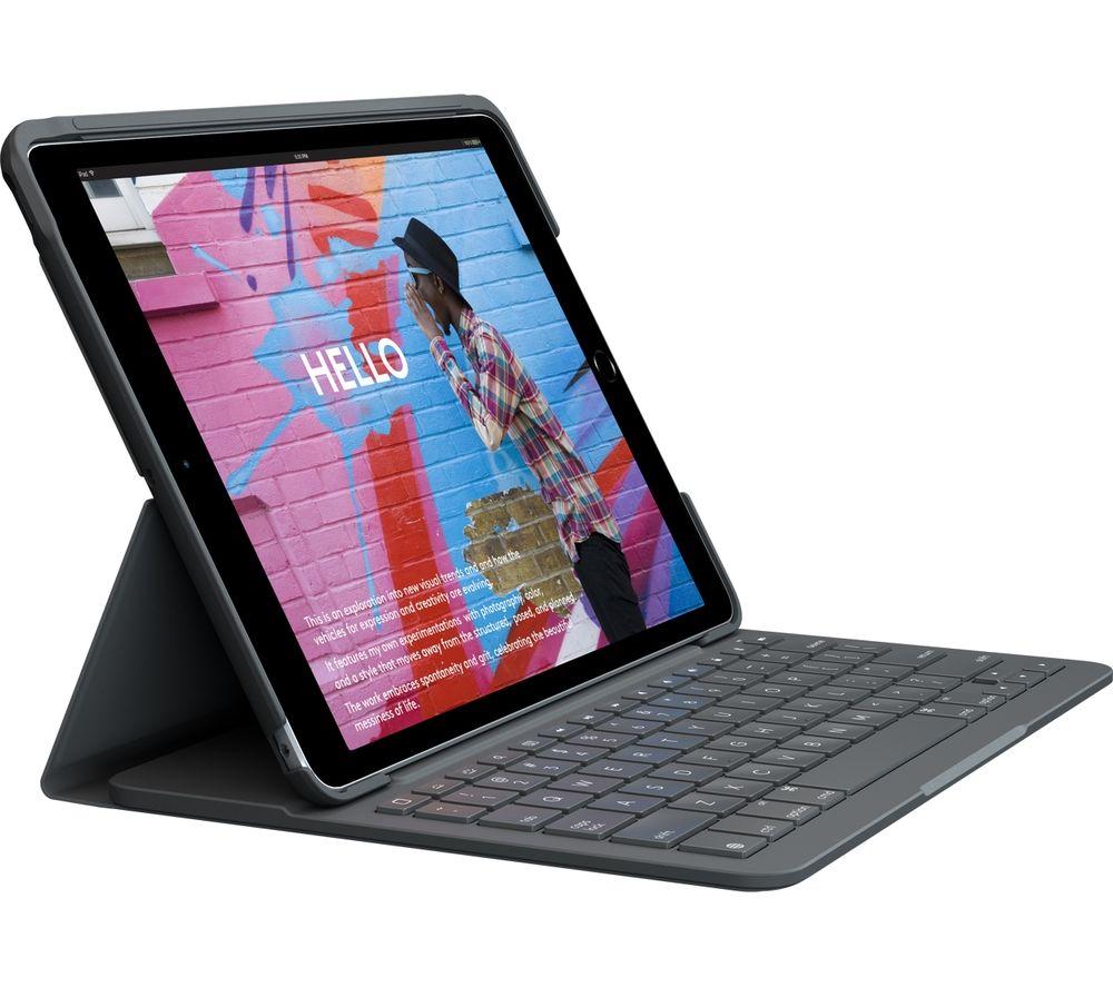 "LOGITECH iPad Slim 10.2"" Keyboard Folio Case - Black"