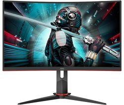 "CQ27G2U/BK Quad HD 27"" Curved VA Gaming Monitor - Black & Red"