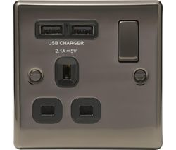 NBN21U2B-01 Switched Power 1-Socket Outlet