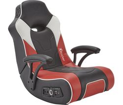G-Force 2.1 Floor Rocker Gaming Chair - Black, Red & White