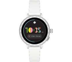 Image of KATE SPADE Scallop 2 KST2011 Smartwatch - White & Silver, Silicone Strap, 42 mm