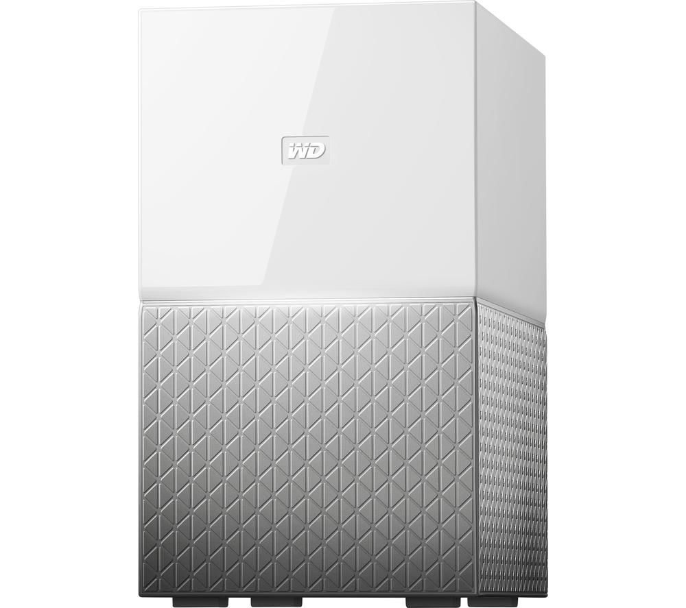 WD My Cloud Home Duo NAS Drive - 12 TB, White