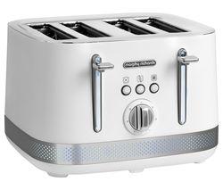 MORPHY RICHARDS Illumination 248021 4-Slice Toaster – White