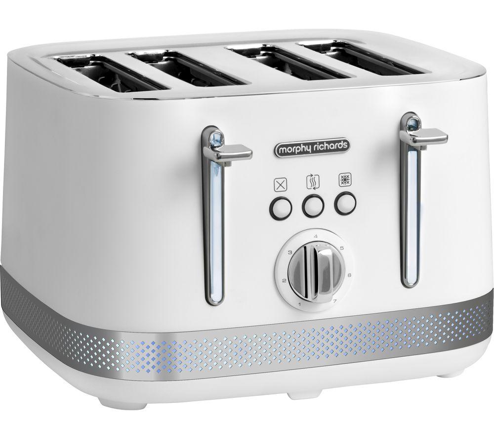 MORPHY RICHARDS Illumination 248021 4-Slice Toaster - White, White