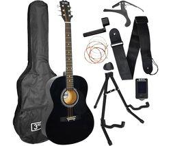 STX10 Acoustic Guitar Premium Bundle - Black