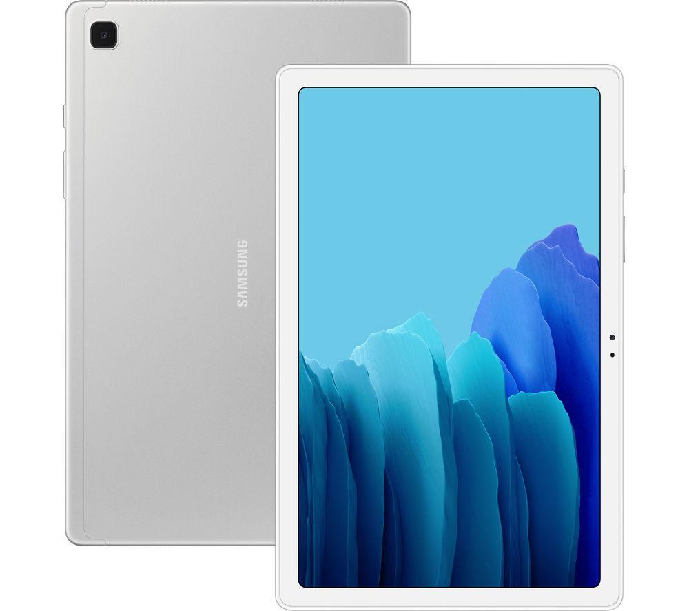 """Image of SAMSUNG Galaxy Tab A7 10.4"""" 4G Tablet - 32 GB, Silver, Silver"""