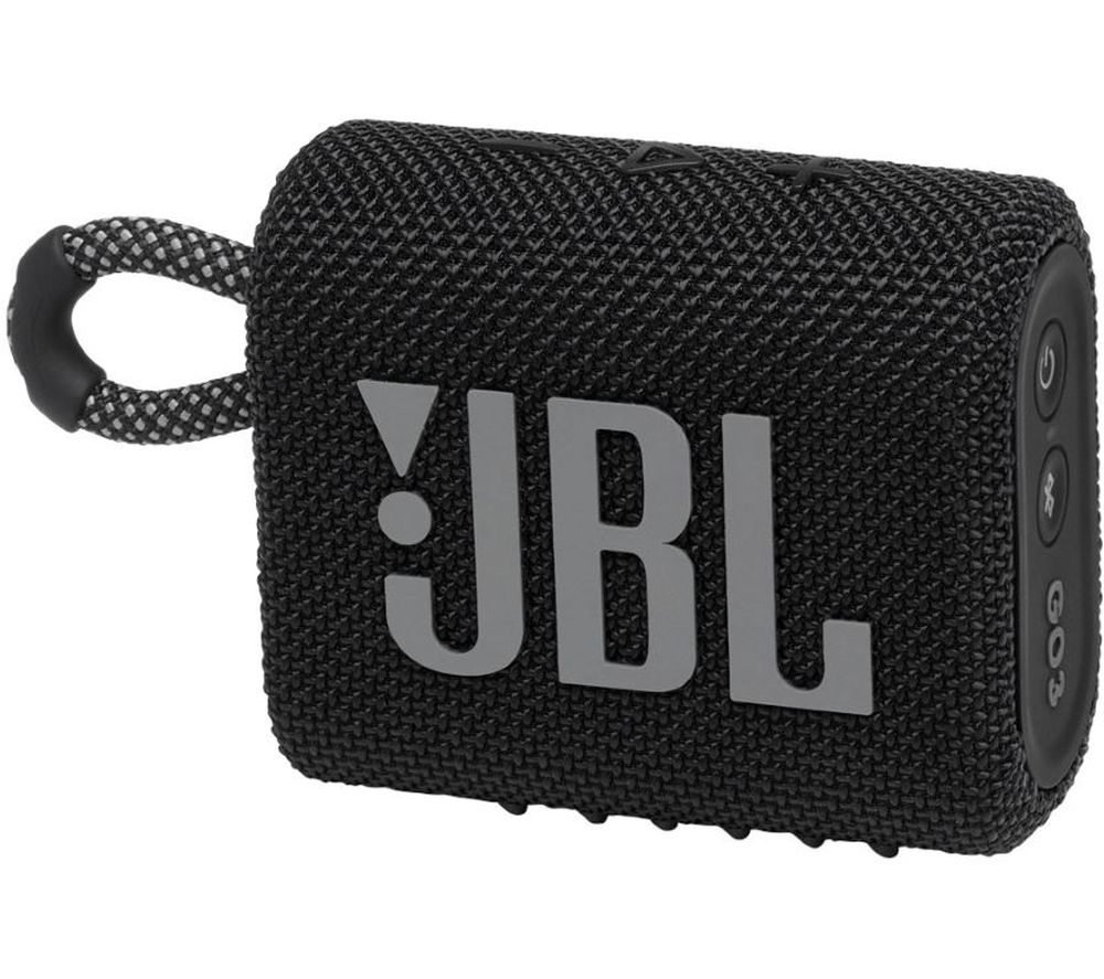JBL GO3 Portable Bluetooth Speaker - Black