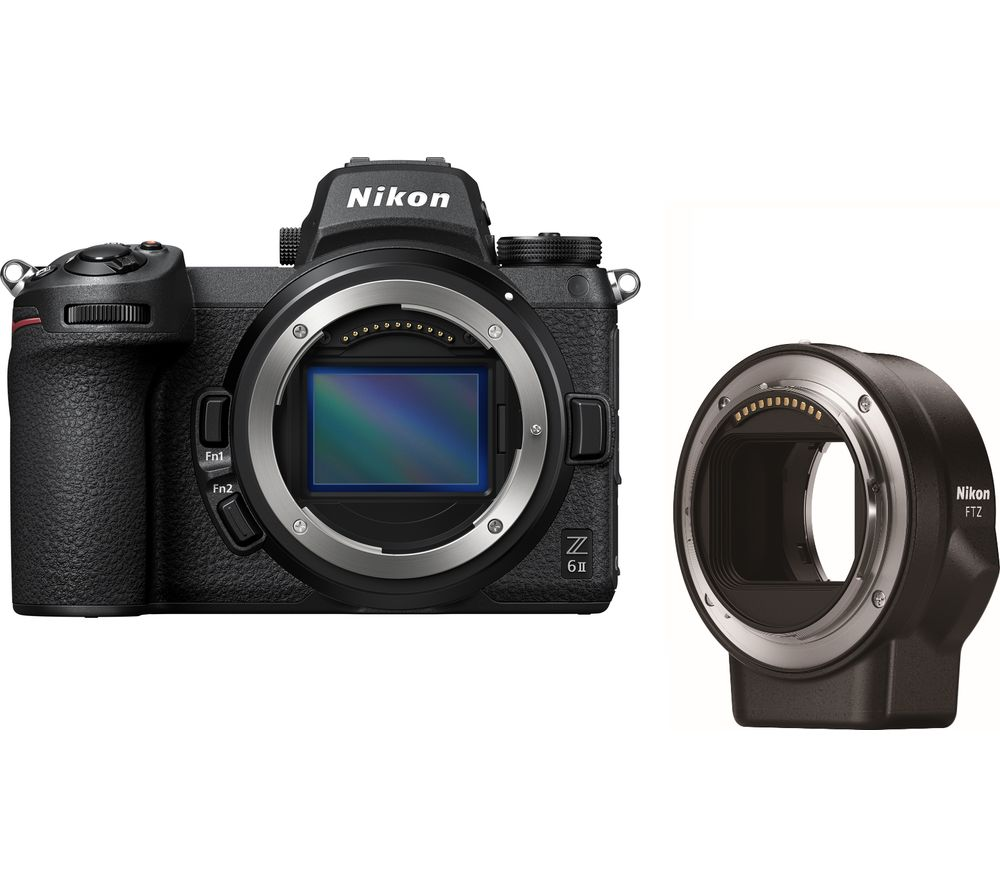 NIKON Z 6II Mirrorless Camera with FTZ Mount Adapter - Black