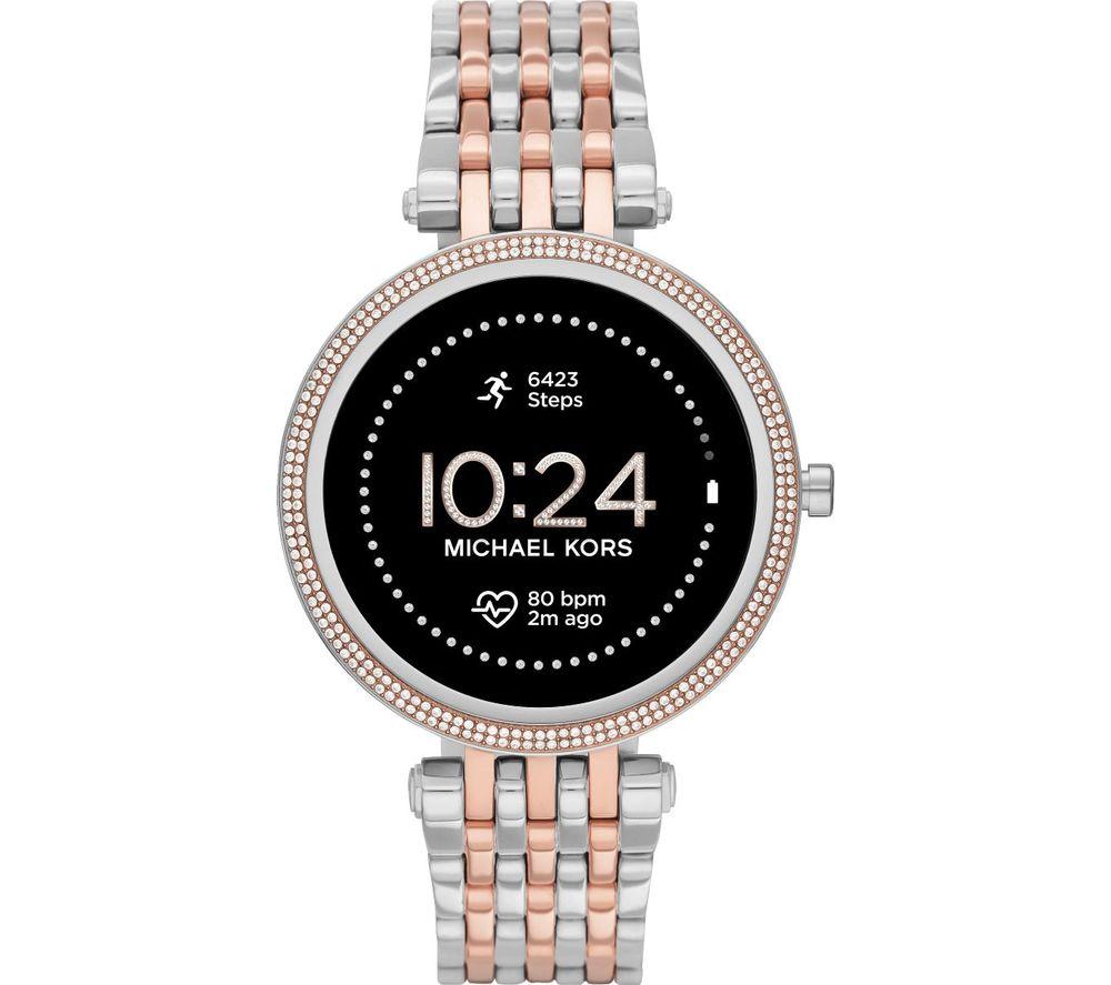 MICHAEL KORS Darci Gen 5E MKT5129 Smartwatch - Silver & Gold, Mesh Strap