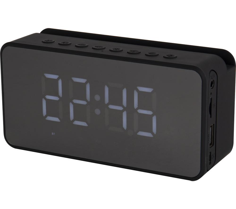 AKAI A58117 FM Bluetooth Clock Radio ? Black, Black