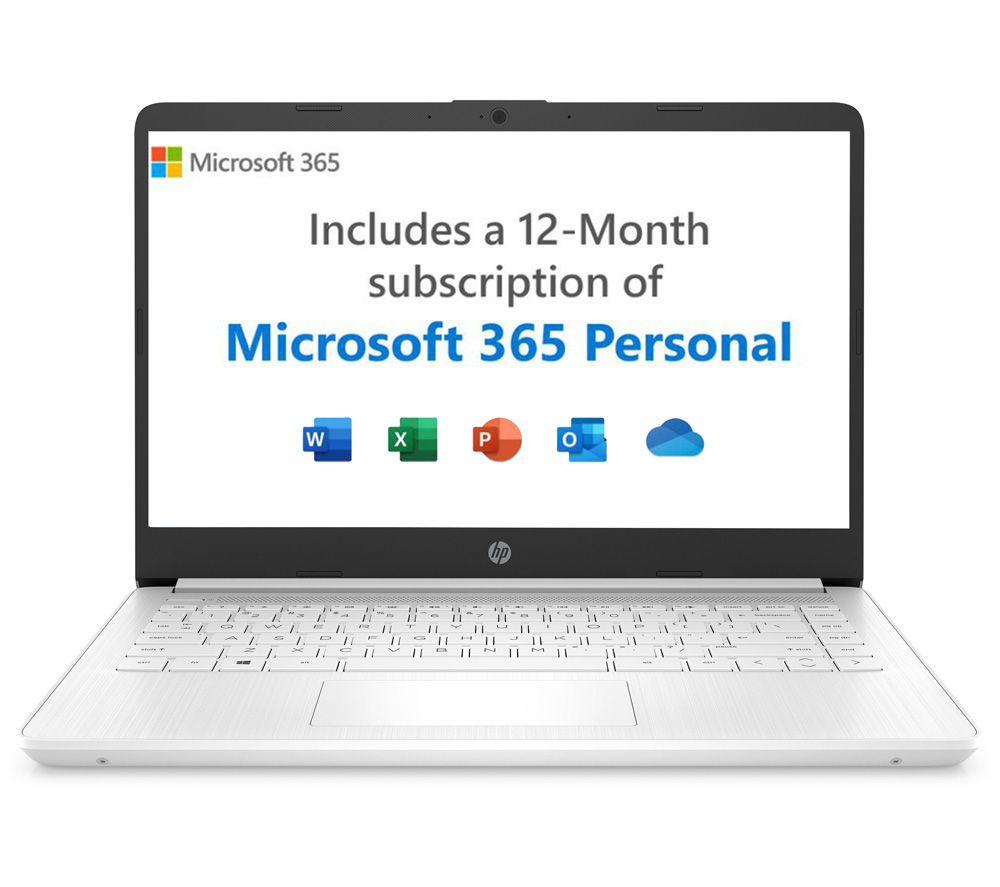 "Image of HP 14s-dq0506sa 14"" Laptop - Intel®Celeron, 64 GB eMMC, White, White"