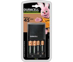 DURACELL CEF27 45 Minute Charger with 2 AA Batteries and 2 AAA Batteries
