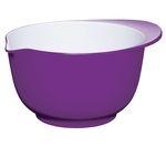 COLOURWORKS 22 cm Mixing Bowl - Purple & White