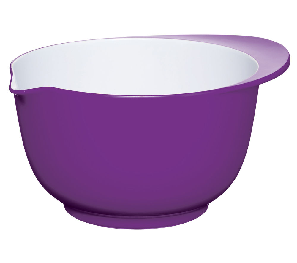 COLOURWORKS 22 cm Mixing Bowl - Purple & White