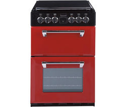 STOVES Richmond 550E Electric Ceramic Cooker - Red Best Price, Cheapest Prices