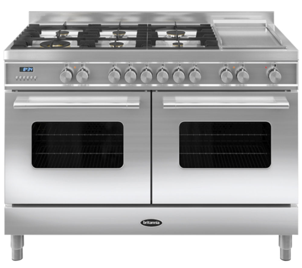 BRITANNIA Delphi 120 RC12TGDES Dual Fuel Range Cooker - Stainless Steel