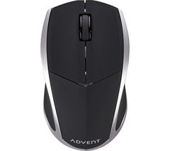ADVENT AMWL3B15 Wireless Blue Trace Mouse - Black & Silver