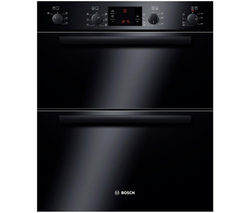 BOSCH Serie 6 HBN43B260B Electric Built-under Double Oven - Black