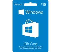 MICROSOFT Windows Gift Card - £15