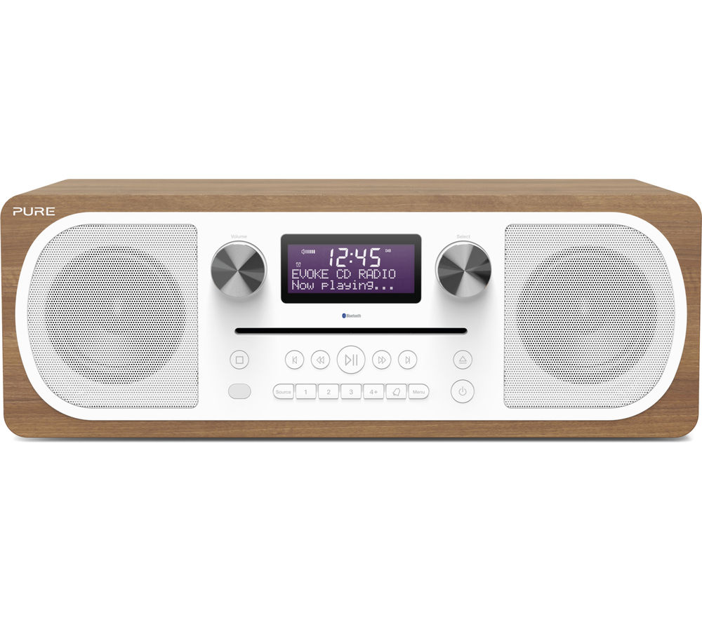 PURE Evoke C-D6 DAB? Bluetooth Clock Radio - Walnut