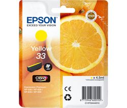 EPSON No. 33 Oranges Yellow Ink Cartridge