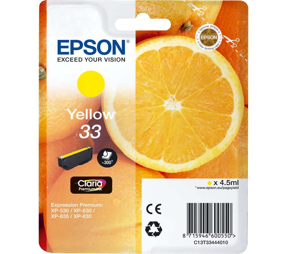 EPSON No. 33 Oranges Yellow Ink Cartridge